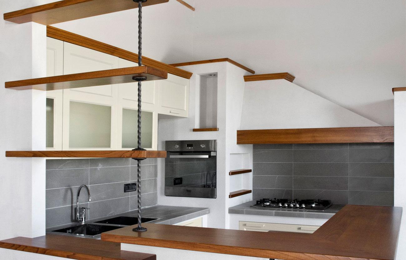 Cucina in Legno • Crearredo Falegnameria • Cucine su Misura