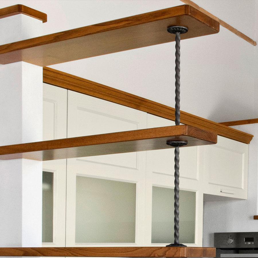 Cucina in legno crearredo falegnameria cucine su misura - Bagno finta muratura ...
