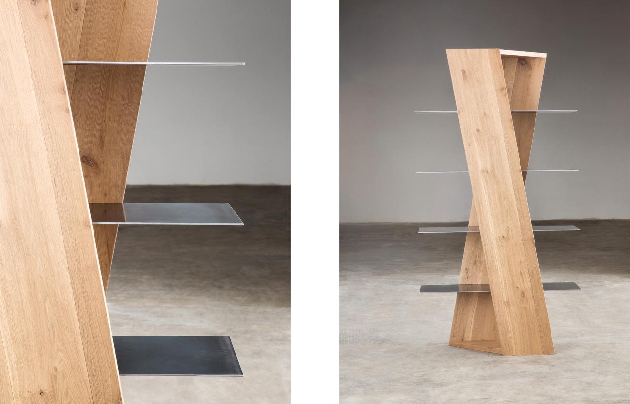 Libreria di Design in rovere